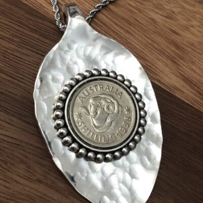 1958 Bezel set Shilling Necklace